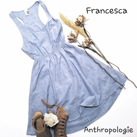Anthropologie Dresses & Skirts - 💝 🌷ANTHROPOLOGIE / Francesca - Blue Cotton Dress